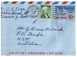 (515) USA Air Letter Posted To Australia - Return To Sender - 1966 ? - Verenigde Staten