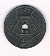 ) LEOPOLD  III  10 CENTIEM  1942 FR/VL - 02. 10 Centimes