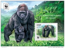 Central African Republic. 2015 WWF – Gorilla (Block). (225b) - Gorillas