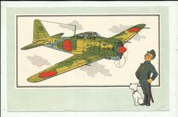 """* 1 X    """"  Nr.39 *MITSUBISHI A6M5*Zero*-Japan -1941   """"-ZIEN  En  WETEN  Door  HERGE. - Cromos"""