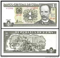 Banco Central 1 PESO 2008 J. Marti P 121h UNC - Cuba