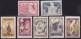 GREECE 1953 National Products Complete Used Set  Vl. 671 / 677 - Gebruikt