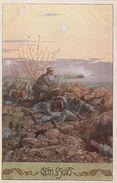 Künstlerkarte AK Ein Held Militär Krieg Weltkrieg Geschütz Bund Der Deutschen In Böhmen Bundeskarte Nr. 319 Ernst Kutzer - Künstlerkarten