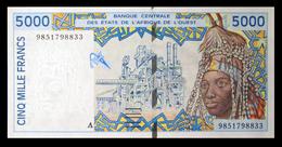 # # # Banknote Westafrika (west Africa) 5.000 Francs UNC # # # - Westafrikanischer Staaten