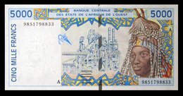 # # # Banknote Westafrika (west Africa) 5.000 Francs UNC # # # - West African States