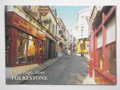 Postcard Old High Street Folkestone PU 2002 Large Single Circle Canterbury Cancel My Ref B21819 - Folkestone
