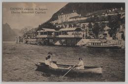 Caprino Vis-a-vis De Lugano - Ancien Restaurant Caprino - Animee - Photo: Fratelli Zwayer - TI Tessin