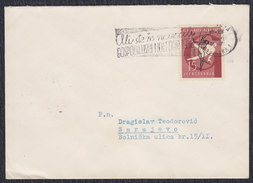 Yugoslavia Slovenia 1957 Gymnastics, Letter Sent From Ljubljana To Sarajevo - 1945-1992 Socialist Federal Republic Of Yugoslavia