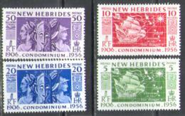 M0700 Ships Navigation Masks 1956 New Hebrides Fr. 4v Set MNH ** 7ME - Used Stamps