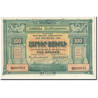 Armenia, 100 Rubles, 1919, KM:31, SPL - Arménie