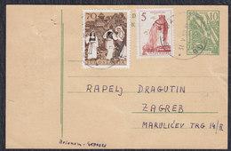 Yugoslavia 1959 Postal Stationery With Added Values - Stamped, Budva - Zagreb - 1945-1992 Socialist Federal Republic Of Yugoslavia