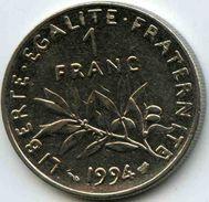 France 1 Franc 1994 Abeille GAD 474 KM 925.1 - H. 1 Franc