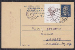 Yugoslavia Croatia 1959 Mathematician, Physician And Astronomer Oton Kucera, Postal Stationery, Budva - Zagreb - 1945-1992 Socialist Federal Republic Of Yugoslavia