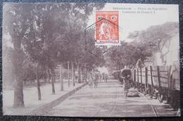 Mozambique Inhambane Praca Da Republica Caminho De Ferro Cpa Timbrée 1910 - Mozambique