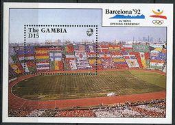 Gambie ** Bloc N° 99 - J.O. De Barcelone - Cérémonie D'ouverture - - Gambia (1965-...)