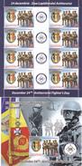 ANTITERORIST FIGHTER'S DAY,POLICE - GENDARMERIE,MINISHEET + BLOCK, MNH, 2012, ROMANIA. - Police - Gendarmerie