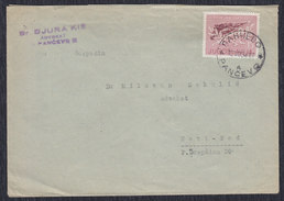 Yugoslavia 1958 Battle At Sutjeska, Letter Sent From Pancevo To Novi Sad - 1945-1992 Socialist Federal Republic Of Yugoslavia
