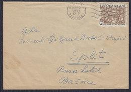 Yugoslavia Croatia 1958 Writer Marin Drzic, Letter Sent From Beograd To Split - 1945-1992 Socialist Federal Republic Of Yugoslavia