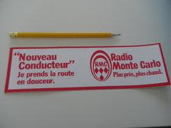 Autocollant - RADIO RMC MONTE CARLO - Nouveau Conducteur - Autocollants