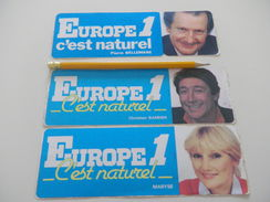 Autocollant - RADIO FM - EUROPE 1 - BELLEMARE BARBIER MARYSE - Aufkleber