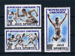 Gabun 1962 Sport Mi.Nr. 172/74 Kpl. Satz ** - Gabun (1960-...)