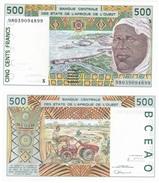 West Africa - Guinea Bissau - 500 Francs 1998 Pick 910Sc UNC Letter S Lemberg-Zp - West African States