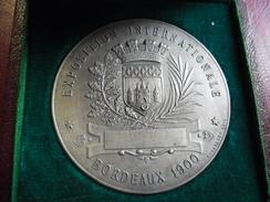 MEDAILLE Et Ecrin De BORDEAUX 1900 - Exposition Internationale 50 Mm 56 Gr. Graveur Massonnet Et Marianne De B.L Hercule - France