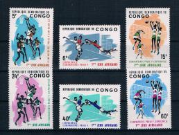 Kongo 1965 Sport Mi.Nr. 221/26 Kpl. Satz ** - Dem. Republik Kongo (1964-71)