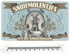 Etiquette Cigare - Snuifmolentjes - Etiquettes