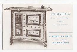CP Publicitaire -  Cuisinières à Carreaux De Céramique  MASUREL Et NOLLET ROUBAIX 59170 - Autres