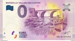 13 MARSEILLE LE VALLON DES AUFFES BILLET ZERO EURO SOUVENIR 2017 BANKNOTE BANK NOTE PAPER MONNAIE - EURO