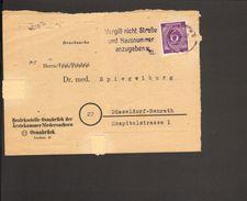 Alli.Bes.6 Pfg.Ziffer Auf Drucksache (Vorderseite) Aus Osnabrück Von 1947 Serienstempel Vergiß Nicht Straße U.Hausnummer - American,British And Russian Zone