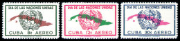 Cuba, 1957, United Nations Day, MNH, Michel 554-556 - Cuba