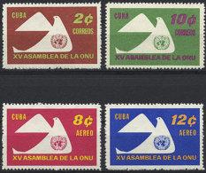 Cuba, 1961, United Nations 15th Anniversary, MNH, Michel 713-716A - Cuba