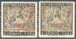 Cuba, 1957, Christmas, MNH, Michel 569-570 - Cuba
