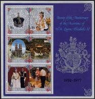 Cook Islands, 1977, Silver Jubilee Queen Elizabeth, Royal, MNH, Michel Block 66 - Cook