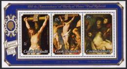 Cook Islands, 1977, Rubens Paintings, Art, MNH, Michel Block 67 - Cook Islands