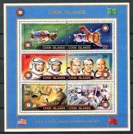 Cook Islands, 1975, Space, Apollo, Soyuz, MNH, Michel Block 46 - Cook