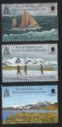 2000 South Georgia Explorers Shackleton   Complete Set Of 3   MNH - Südgeorgien