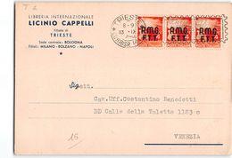 10263 TRIESTE CAPPELLI - DEMOCRATICA AMG FTT - TARGHETTA - Storia Postale