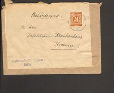 Alli.Bes.24 Pfg.Ziffer Auf Fernbrief  Aus Gotha Von 1947 Brief Doppelt Verwendet M 4 X 6 Pfg.Ziffer - Gemeinschaftsausgaben