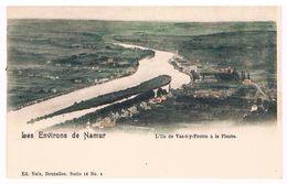 CPA Dos Non Divisé :  NAMUR - L' île Vas-t'y-frotte à La Plante , En Face, La Plaine De Jambes - Namur