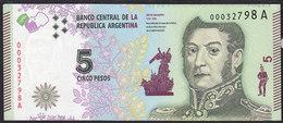 Argentina 5 Pesos 2015 P359 UNC - Argentine