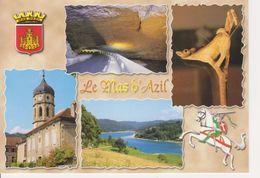 09 LE MAS D'AZIL / MULTIVUES AVEC BLASON / HAUT LIEU DE LA PREHISTOIRE - France