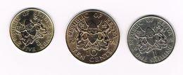)  KENIA  5 En 10 CENTS 1978 + 1 SHILLING  1973 - Kenya