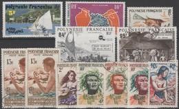 Polynésie Française. Petit Lot De Timbres Oblitérés - Collections, Lots & Séries