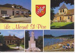 10 LE MESNIL SAINT PERE / MULTIVUES AVEC BLASON - LAC - EGLISE - MAIRIE MONUMENT AUX 24 FUSILLES DU 28/08/1944 - France