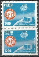 Peru - 1985 Radio Club 1300s Pair MNH **      Sc 860 - Peru