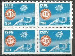 Peru - 1985 Radio Club 1300s Block Of 4 MNH **      Sc 860 - Peru