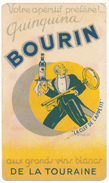 Quinquina Bourin, Prunelline Gerbault - Carte Parfumée Recto Et Verso - Karten
